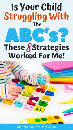 Is Your Child Struggling With The ABC's?