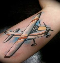30 Amazing Airplane Tattoos For People Who Love To Travel  Jets Travel And