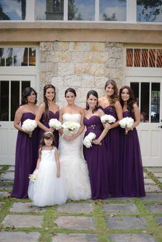 Purple Bridesmaid Dress Long Darkpurple Flowers Dresses Wedding Bridesmaids