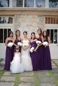 purple bridesmaid dress #long #darkpurple