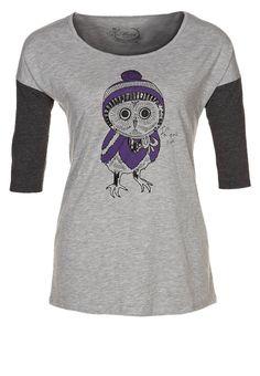 OWL - T-shirt z nadrukiem - szary