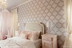 11 DIY Wall Stencil Ideas for Dreamy Feminine Romantic Bedroom Decor - Royal Design Studio
