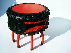 Reciclado de Neumáticos para sillas, mesas y puf´s para exteriores e interiores. - Vida Lúcida