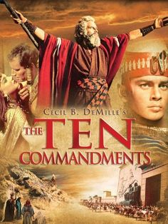 The Ten Commandments, Charleston Heston and Yul Brynner, plus so many stars, Edward G. Robinson, so many I can't remember them all.   Great, great movie.