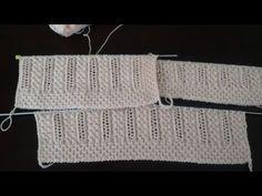 Dondurma Külahı Bayan Yelek Detaylı Anlatımı - YouTube Knitting Videos, Knitting Charts, Knitting Stitches, Baby Knitting, Knitting Patterns, Knitting Designs, Knitting Projects, Irish Crochet, Diy Crochet