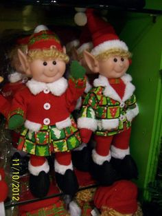Christmas Elves from Suzanne's Gift Shoppe Christmas Elf Doll, Grinch Christmas Tree, Xmas Elf, Merry Christmas To All, Christmas Sewing, Christmas Projects, Christmas Ornaments, Glass Ornaments, Christmas Holidays