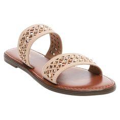 Women's Mina Slide Sandals Merona - Light Taupe 5.5