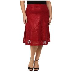 Kiyonna Shimmer Circle Skirt (Red Shimmer) Women's Skirt ($71) ❤ liked on Polyvore featuring plus size women's fashion, plus size clothing, plus size skirts, elastic waist skirt, calf length skirts, midi circle skirt, circle skirts and red flared skirt