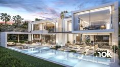 Architecture & construction Luxury villa in Dubai Luxury Modern Homes, Luxury Homes Dream Houses, Modern Mansion, Modern Architecture House, Architecture Design, Dubai Architecture, Dubai Houses, Mansion Designs, Modern Villa Design