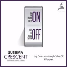‪#‎Forever‬ Let your lifestyle pave way for delightful add-ons. Welcome to Sushma Crescent!  To know more, visit- www.sushmacrescent.com ‪#‎SushmaCrescent‬ ‪#‎RealEstate‬ ‪#‎Chandigarh‬ ‪#‎Zirakpur‬