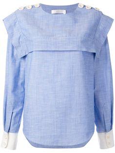 Chloé блузка с пуговицами на плечах