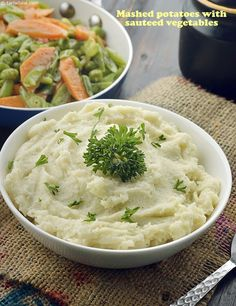 Mashed Potatoes with Sautéed Vegetables