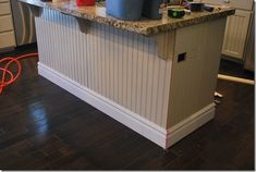 Kitchen island makeover how to - going to do this for sure!