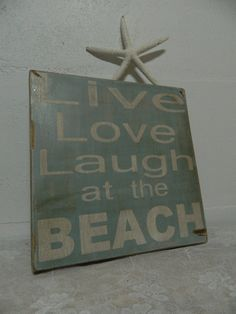 Live Love Laugh at the Beach wood by CountryFolksCreation on Etsy, $28.00