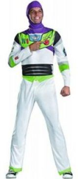 Our Toy Story Classic Buzz Lightyear Costume is the ultimate costume for your inner intergalactic adventure! This costume features a Buzz Lightyear Printed polyester jumpsuit and character hood. Men's size Dress like your favorite Toy Story hero!