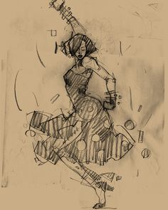 Harlem Swing Dance Studies by Martin French, via Behance