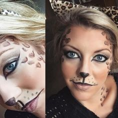 Halloween Leopard Makeup Look