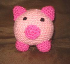 Cute crochet pig from an Etsy vendor