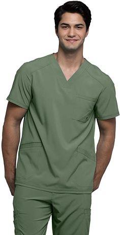 Scrubs Outfit, Scrubs Uniform, Stylish Scrubs, Medical Scrubs, Scrub Tops, V Neck Tops, Cherokee, Mens Tops, Clothes
