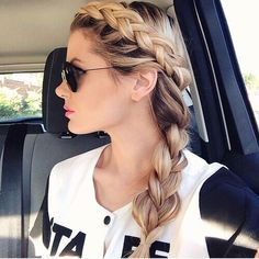 Image via We Heart It #diy #girl #hairstyle #healthy #longhair #love #summer #tutorial #ctropbeau