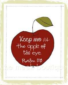 Apple of My Eye Scripture Art Psalms Printable by TheMeekBoutique, $5.00