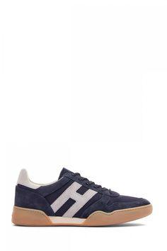 Hogan Herren Sneaker H357 Allacciato Marineblau | SAILERstyle Baby Shoes, Sneakers, Clothes, Fashion, Velvet, Leather, Women's, Tennis, Outfits