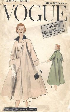 Vintage 1950's Sewing Pattern Vogue Special Design Clutch