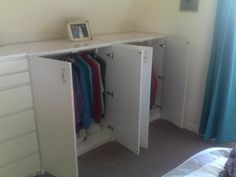Short Wardrobe Any Cabinet Makerscarpenters In The House Tonight Fitted Image - Wardrobe Closet Ideas Hanging Wardrobe, Attic Wardrobe, Attic Closet, Built In Wardrobe, Garage Attic, Wardrobe Furniture, Wardrobe Cabinets, Attic Bathroom, Attic Rooms