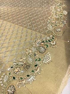 Whatsapp me 00923064010486 Zardozi Embroidery, Tambour Embroidery, Hand Work Embroidery, Indian Embroidery, Gold Embroidery, Embroidery Fashion, Hand Embroidery Designs, Embroidery Stitches, Embroidery Patterns
