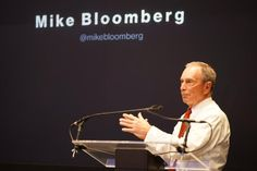 Mike Bloomberg at his company's NewFront presentation. #RBSEE