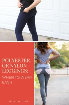 Should you be wearing polyester while working out, or should you stick to nylon? We share 4 reasons that nylon trumps polyester! #thebetterfit #leggingsfabric #nylonleggings #activewear  #yoga #yogapants Best Leggings, Workout Outfits, Going Out Dresses, Business Attire, Work Attire, Leggings Fashion, Workout Leggings, Shapewear, Activewear
