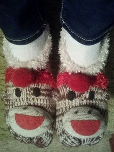Love Sock Monkey Slippers!