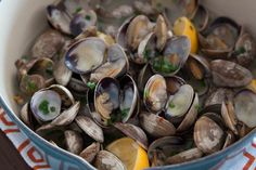 Steamed Clams with Garlic and Chives | What's Gaby Cooking