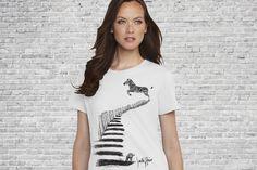 Zebra Crossing - Gals T-shirt