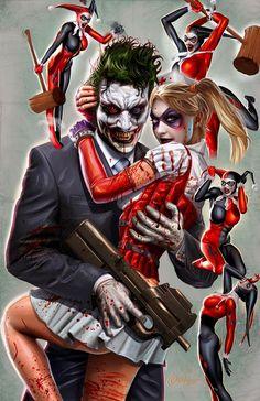 Criminally insane Harley Quinn and Joker together forever