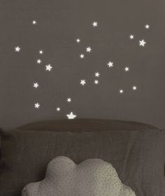 Glow in the Dark sterren - Muursticker | Sterren | Gras onder je voeten