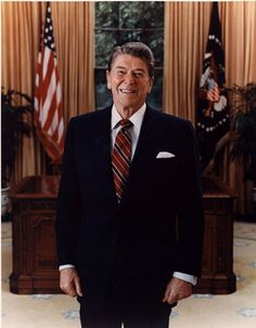 Official Portrait of President Ronald Reagan, 1985