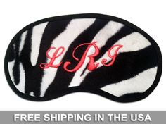 Cotton embroidered sleep eye masks Hers and His sleep masks Bride and Groom sleep  masks #