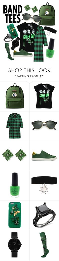 """Green-Green Day Outfit"" by highfructosephan ❤ liked on Polyvore featuring Napapijri, Balenciaga, Ray-Ban, Piranesi, Fendi, OPI, Hot Topic, Dolce&Gabbana and CLUSE"