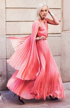Pink pleated angel.