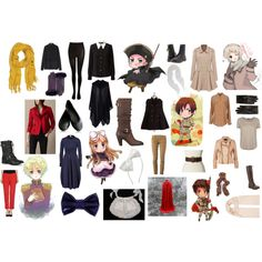 """Hetalia Cosplay - Spain, Romano, Russia, HRE, Belarus, Latvia"" on Polyvore"