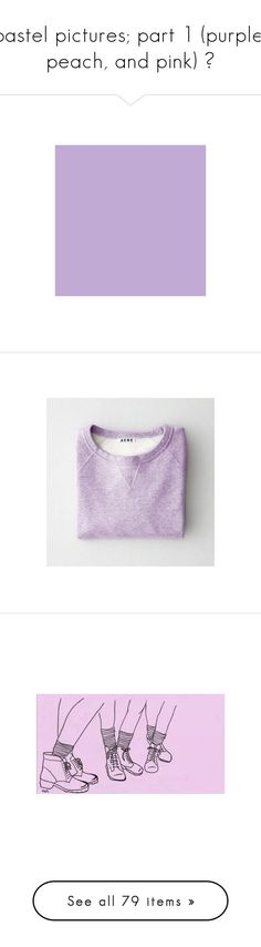 """""""pastel pictures; part 1 (purple, peach, and pink) ♡"""" by floral-skiies ❤ liked on Polyvore featuring backgrounds, pictures, art, color, colours, filler, colorblock, hex_c1aad4, photos and pics"""