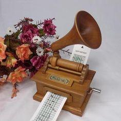 Antique Vintage Wooden Hand Crank Music Box DIY Make yr Own Song Gift | eBay
