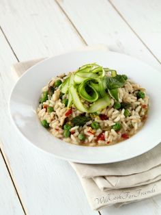 Spring Risotto with Shaved Asparagus: Dispelling the Myth that Risotto is Hard by WillCookForFriends, via Flickr