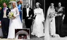 Lady Gabriella Windsor wows in diamond Russian Fringe-style tiara worn by mother and grandmother Royal Wedding Gowns, Royal Weddings, Wedding Dresses, Lady Diana, October Wedding, Wedding Day, Prince Michael Of Kent, Fringe Fashion, Women's Fashion
