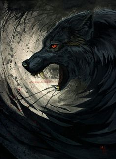 Enough by wolf-minori monster beast creature animal Anime Wolf, Fantasy Wolf, Fantasy Art, Fantasy Creatures, Mythical Creatures, Shadow Wolf, Werewolf Art, Beast Creature, Vampires And Werewolves