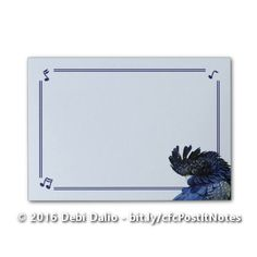 """This cute Post-It """"Notes"""" pad features a striped border with notes in the corners and an adorable red-tailed black cockatoo in the lower right corner. http://www.zazzle.com/red_tailed_black_cockatoo_notes-256143212957377112?rf=238083504576446517&tc=20161111_pint_NSoZ #stationery #birds #photography #graphicdesign #officesupplies #StudioDalio #Zazzle"""