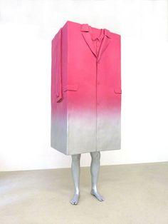 Erwin Wurm, Big Coat, 2010  Aluminium and paint