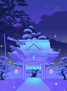vaporwave blue Blue Daydream Mini Art Print by Elora Pautrat - Without Stand - x Purple Aesthetic, Aesthetic Art, Aesthetic Anime, Lavender Aesthetic, Wakayama, Framed Art Prints, Canvas Prints, Canvas Art, Japon Illustration