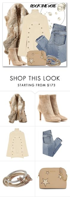 """""""Rock the Vote in Style"""" by andrejae ❤ liked on Polyvore featuring Gianvito Rossi, Monse, Mix Nouveau, SPINELLI KILCOLLIN, MICHAEL Michael Kors and rockthevote"""